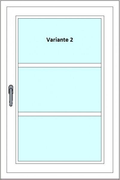 Kunststoff-Fenstersprossen zum nachrüsten - 3 Felder, ohne Sprossenkreuz