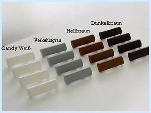 Entwässerungskappen / Wasserschlitzkappen aus Kunststoff bis 5mm