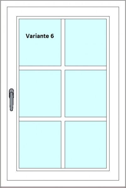 Kunststoff-Fenstersprossen zum nachrüsten - 6 Felder, 2 Sprossenkreuze