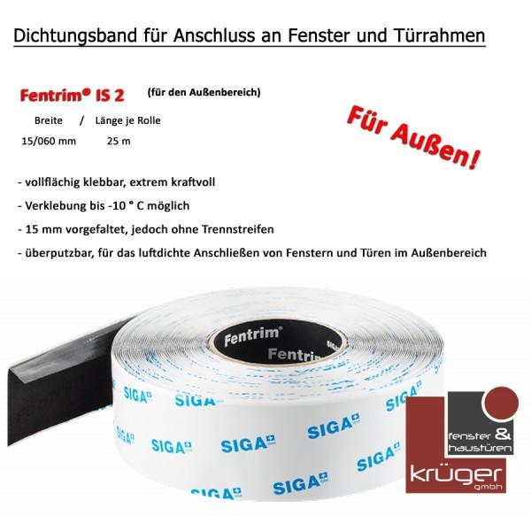 SIGA Fentrim® IS 2 - 75 mm x 25 m selbstklebendes Dichtungsband - Außenbereich