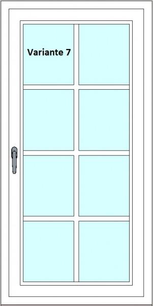 Kunststoff-Fenstersprossen zum nachrüsten - 8 Felder, 3 Sprossenkreuze