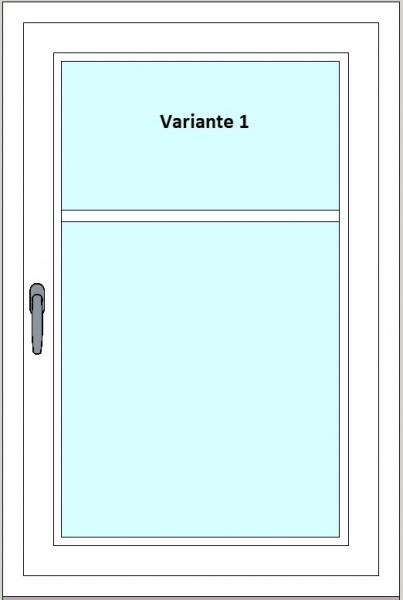 Kunststoff-Fenstersprossen zum Nachrüsten - 2 Felder, ohne Sprossenkreuz