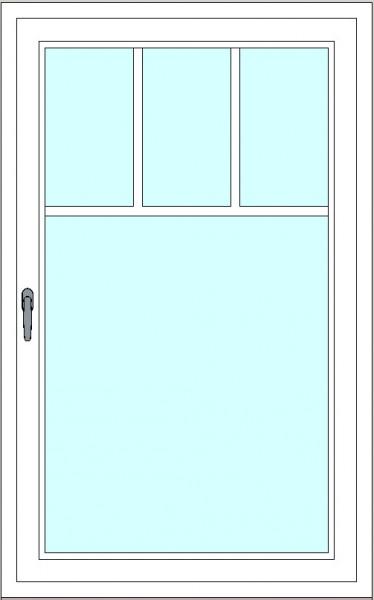 Kunststoff-Fenstersprossen zum nachrüsten - 4 Felder, 2 Sprossenkreuze