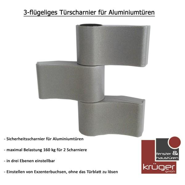WALA Türscharnier 3 flügelig für Aluminiumtüren