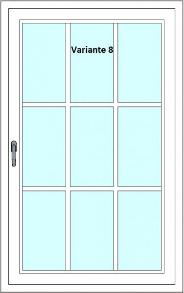 Kunststoff-Fenstersprossen zum nachrüsten - 9 Felder, 3 Sprossenkreuze