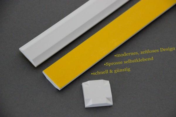 Fenster - Sprosse zum nachrüsten - Kunststoff Sprosse selbstklebend-weiß
