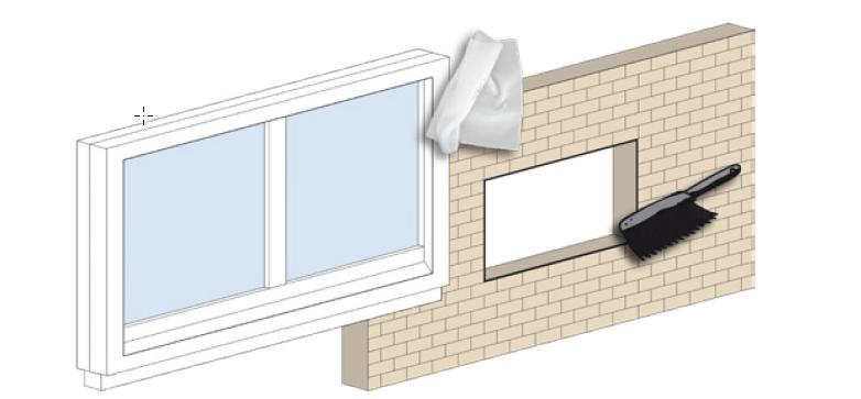 Reinigung-Fensterrahmen