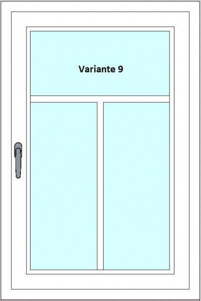 Kunststoff-Fenstersprossen zum nachrüsten - 3 Felder, 1 Sprossenkreuz
