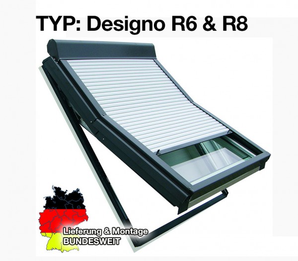 Roto-Dachfenster Rollladen Typ R6 und R8